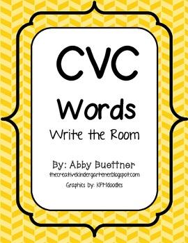 CVC Words Write the Room
