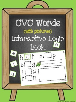 CVC Words (with pictures) Interactive Logic Book