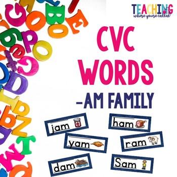 CVC -am Words