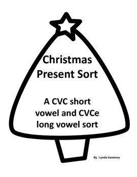 CVC and CVC long vowel short vowel Christmas sort