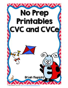 CVC and CVCE No Prep Printables