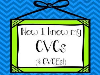 CVC and CVCE Words {Now I Know my CVCs (and CVCEs)}