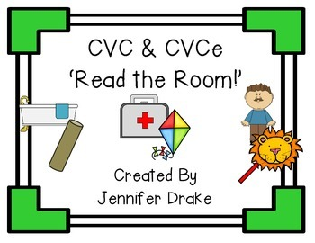 CVC and CVCe 'Read the Room' PLUS Recording Sheets!
