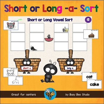 ESL GAME: Short and Long A Word Sort (CVC and CVCE)