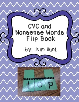 CVC and Nonsense Word Flip Book for RTI