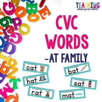 CVC -at Words