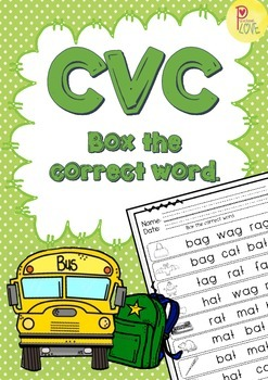 CVC box the correct word