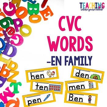 CVC -en Words