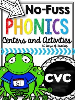 CVC phonics centers and activities