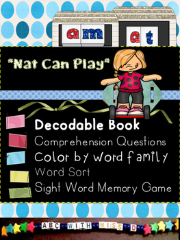 CVC short A word families decodable and pre-primer sight w