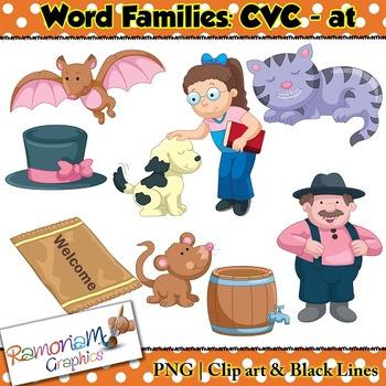 CVC short vowel at clip art