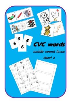 CVC words - short e