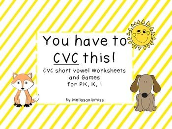 CVC worksheets and games-You Have to CVC This!