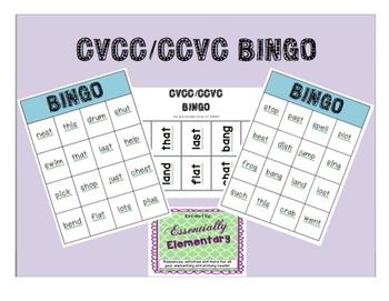 CVCC/CCVC Bingo