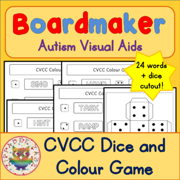 CVCC Dice and Colour Game - Boardmaker Visual Aids for Autism