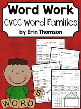 Daily 5 Word Work - CVCC Word Families