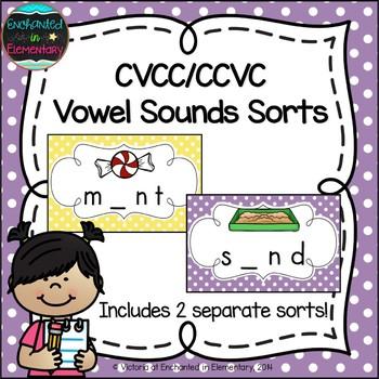 CVCC and CCVC Vowel Sounds Sorts