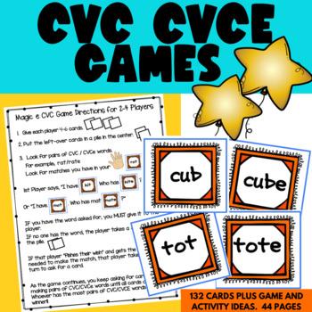 Magic e Fish Your Wish CVC To CVCe Phonics Word Work Match