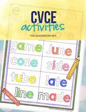 CVCE, Magic E, Silent E Activities