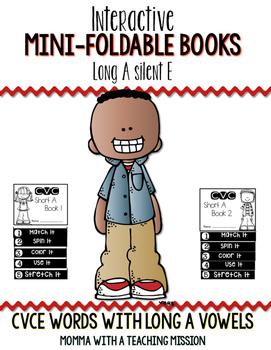 CVCe Long A Mini Flip Book Foldable