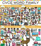 CVCe Word Family Long Vowel Clip Art