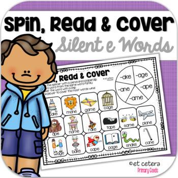 Long Vowel CVCe Word Family Game: Spin, Color and Write!