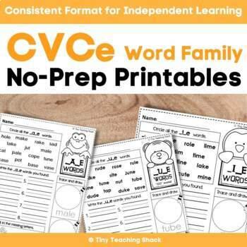 CVCe Long Vowels (Phonics) Printables
