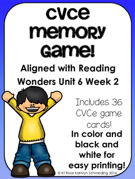 CVCe Memory Game---Aligned with Reading Wonders Unit 6 Week 2