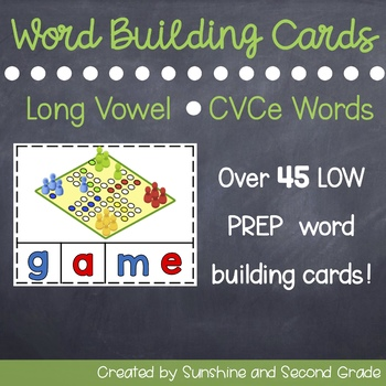CVCe Word Building Cards