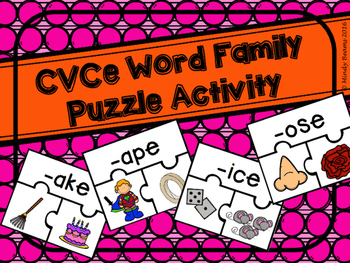 CVCe Word Family Puzzle Activity