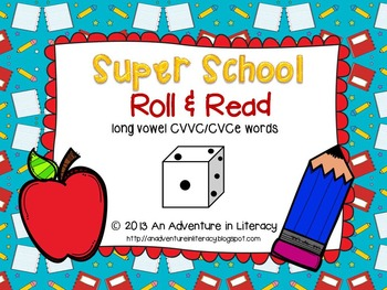 CVCe/CVVC Long Vowel Back to School Roll & Read