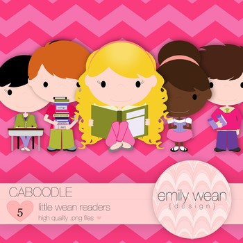 Caboodle - Little Readers Clip Art