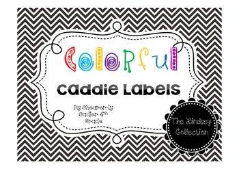 Caddie Labels-Multi Colored