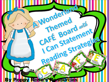 Cafe Board in a Wonderland Theme