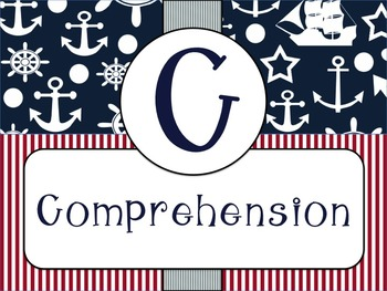 Cafe Headers and Strategies (Nautical Theme) - 4th Grade