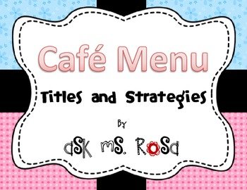 Cafe Menu - Blue and Pink