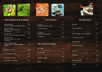 French Café Menu for Class Food Unit