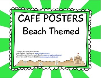 Cafe Posters - Beach Themed - Green