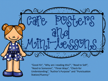 Cafe Reading Posters and Mini Lessons