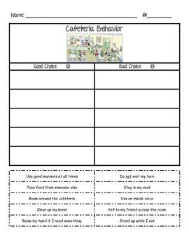 Cafeteria Behavior - Sorting Activity for Behavior Expecta