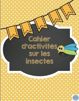 Cahier d'activités les insectes/French Insects activities