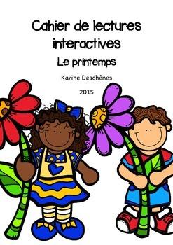 Cahier de lecture interactives - Le printemps