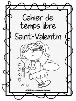 Cahier de temps libre pour la fête de la Saint-Valentin