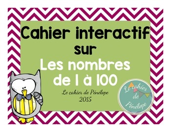 Cahier interactif sur les nombres de 1 à 100 (à imprimer-p