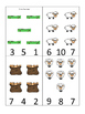 Cain and Abel Count and Clip printable game. Preschool Bib