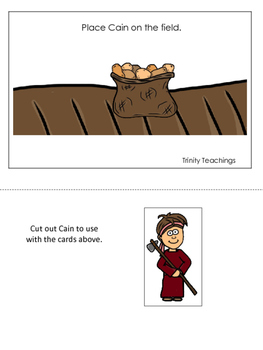 Cain and Abel Positional Cards printable game. Preschool B