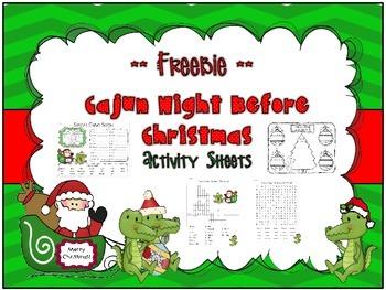 Cajun Night Before Christmas *** Freebie ***
