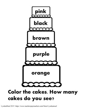Cake Color 2- Reading Colors