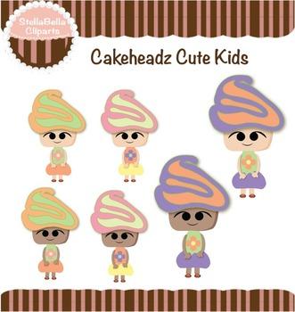 Cakeheadz Cute Kids Clipart - Flower Girls