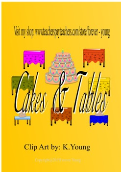 Cakes & Tables Clip Art